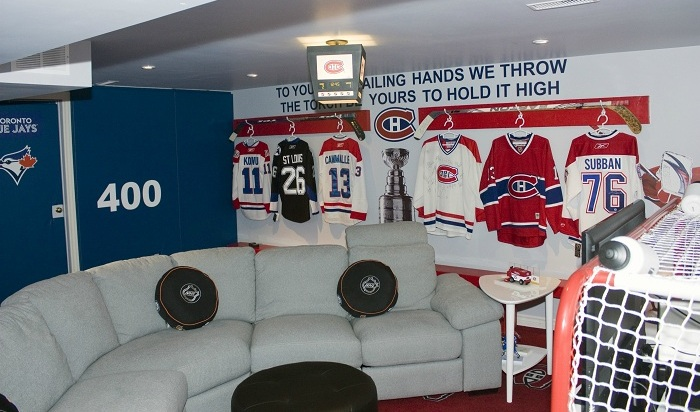 sports room decor montreal canadiens jerserys