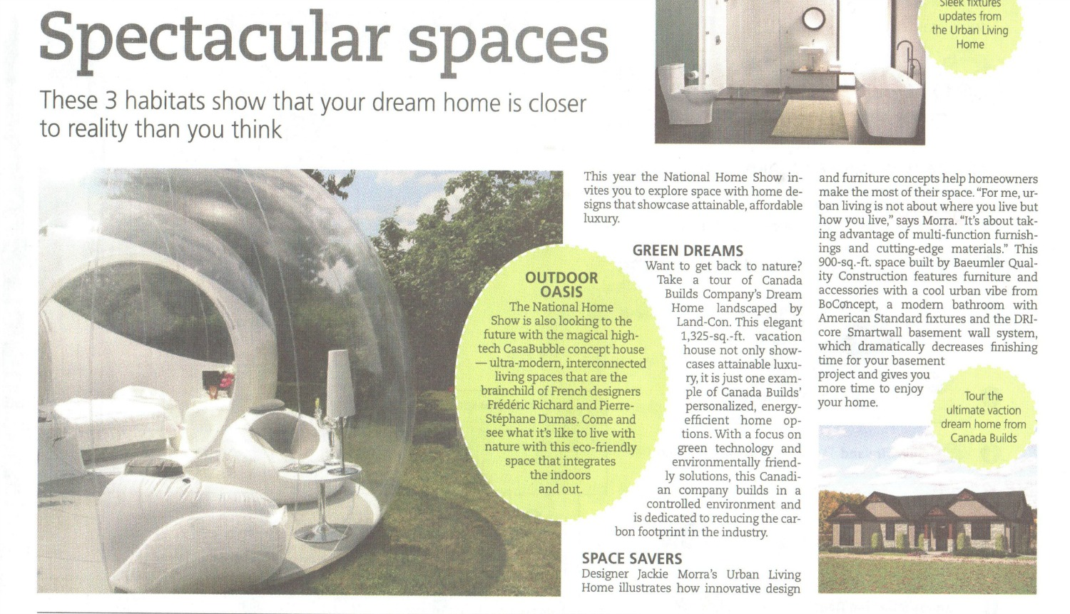 toronto star spectacular spaces