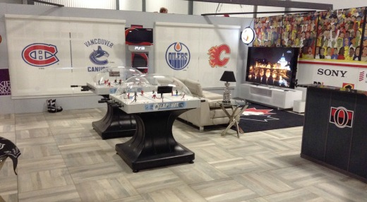 Hockey Fan Cave Overview area