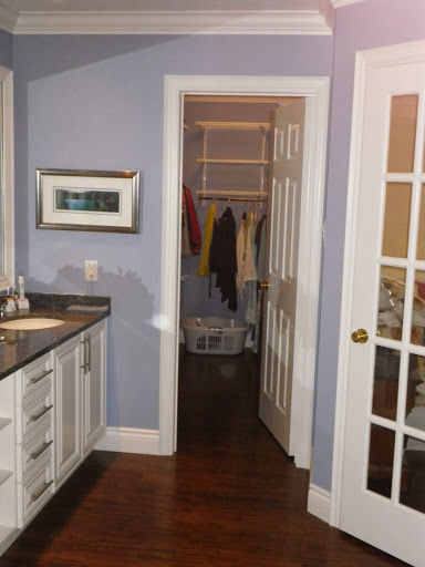 master bath renovation closet